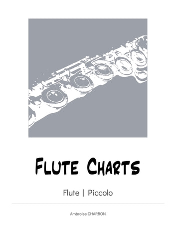 Flute Charts - Intonation and timbre fingerings for the flute, intonation fingerings for the piccolo. ebook by Ambroise Charron