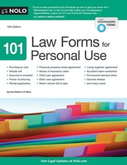 101 Law Forms for Personal Use ebook by Nolo Editors