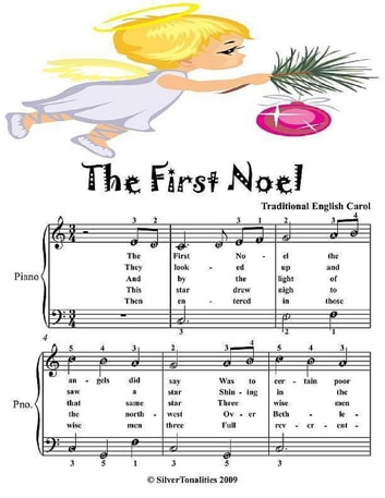 First Noel - Easiest Piano Sheet Music Junior Edition ebook by Silver Tonalities