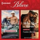 Cowboy After Dark & Make Mine a Marine - (Thunder Mountain Brotherhood) livre audio by Vicki Lewis Thompson, Candace Havens