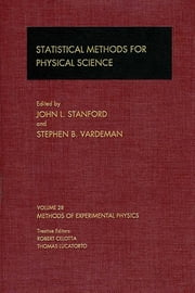 Statistical Methods for Physical Science ebook by John L. Stanford,Stephen B. Vardeman
