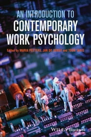 An Introduction to Contemporary Work Psychology ebook by Maria C.W. Peeters,Jan de Jonge,Toon W. Taris