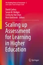 Scaling up Assessment for Learning in Higher Education ebook by David Carless, Susan M. Bridges, Cecilia Ka Yuk Chan,...