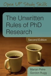 THE UNWRITTEN RULES OF PHD RESEARCH ebook by Marian Petre