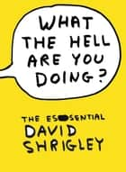 What The Hell Are You Doing?: The Essential David Shrigley - The Essential David Shrigley eBook by David Shrigley