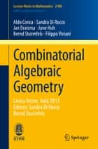 Combinatorial Algebraic Geometry ebook by Aldo Conca,Sandra Di Rocco,Jan Draisma,June Huh,Bernd Sturmfels,Filippo Viviani