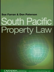 South Pacific Property Law ebook by Sue Farran, Donald Paterson