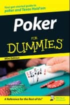Poker For Dummies®, Mini Edition ebook by Richard D. Harroch, Lou Krieger