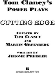 Cutting Edge - Power Plays 06 ebook by Tom Clancy,Martin H. Greenberg,Jerome Preisler