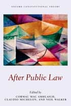 After Public Law ebook by Cormac Mac Amhlaigh, Claudio Michelon, Neil Walker