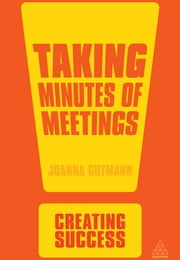 Taking Minutes of Meetings ebook by Joanna Gutmann