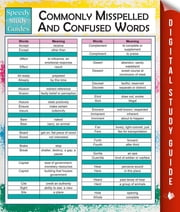 Commonly Misspelled And Confused Words (Speedy Study Guides) ebook by MDK Publishing