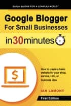 Google Blogger For Small Businesses In 30 Minutes ebook by Ian Lamont