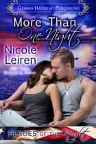 More Than One Night ebook by Nicole Leiren