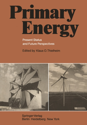 Primary Energy - Present Status and Future Perspectives ebook by