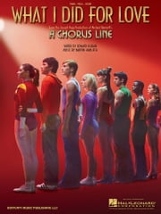 What I Did For Love (From A Chorus Line) Sheet Music ebook by Marvin Hamlisch