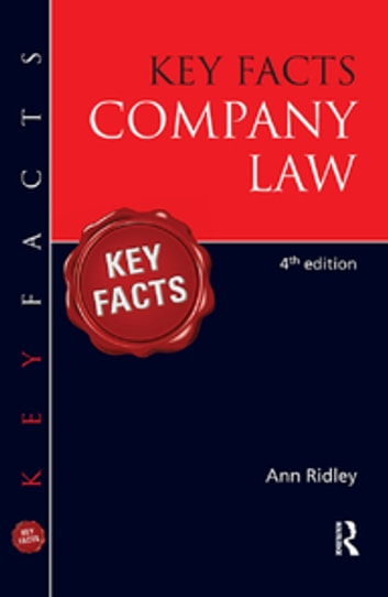 Key Facts Company Law ebook by Ann Ridley