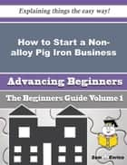 How to Start a Non-alloy Pig Iron Business (Beginners Guide) ebook by Shon Lapointe
