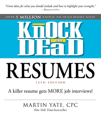 knock em dead resumes ebook by martin yate cpc 9781507201572
