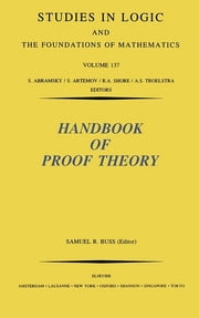 Handbook of Proof Theory ebook by S.R. Buss
