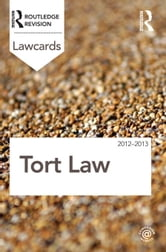 Tort Lawcards 2012-2013 ebook by Routledge