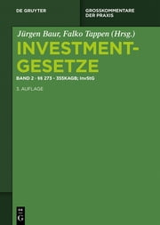 §§ 273 - 355 KAGB; InvStG ebook by Jürgen Baur