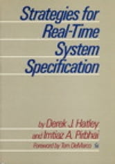 Strategies for Real-Time System Specification ebook by Derek Hatley,Imtiaz Pirbhai