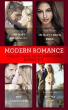 Modern Romance November Books 5-8: The Baby the Billionaire Demands (Secret Heirs of Billionaires) / Sicilian's Bride For a Price / Her Forgotten Lover's Heir / Revenge at the Altar ebook by Jennie Lucas, Tara Pammi, Annie West,...