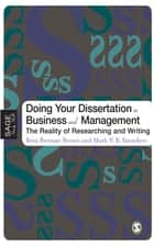 Doing Your Dissertation in Business and Management ebook by Professor Reva Berman Brown