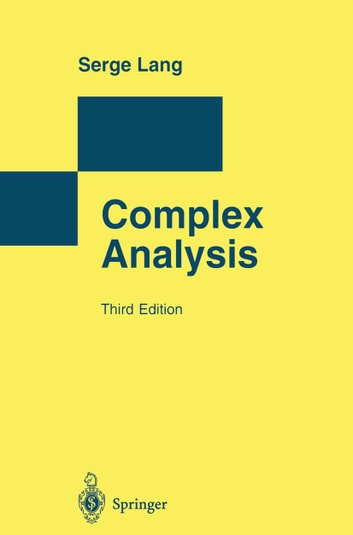 Complex Analysis ebook by Serge Lang