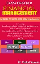 Exam Cracker Financial Management ebook by Dr. Vishal Saxena