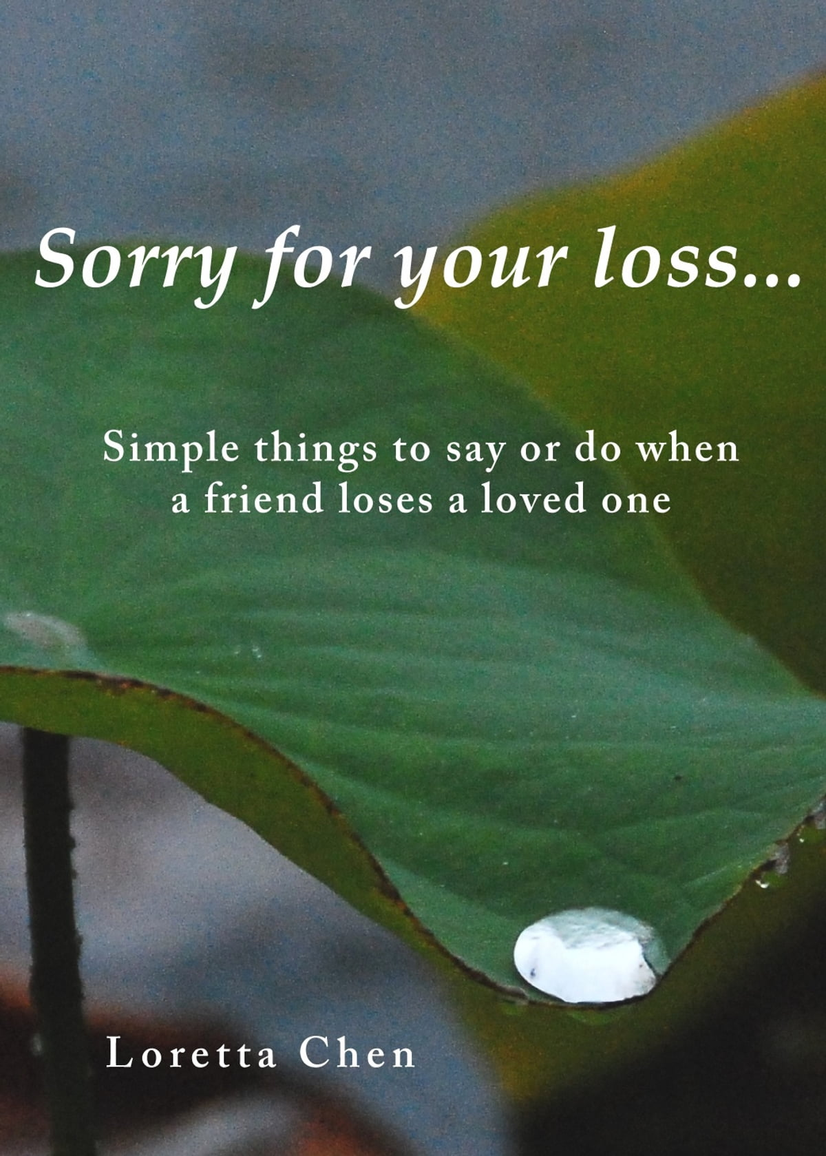 Sorry For Your Loss Simple Things To Say Or Do When A Friend Loses A Loved One Ebook By Loretta Chen Rakuten Kobo