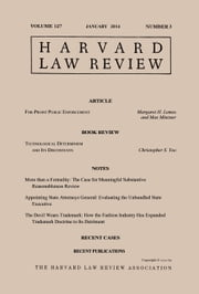 Harvard Law Review: Volume 127, Number 3 - January 2014 ebook by Harvard Law Review
