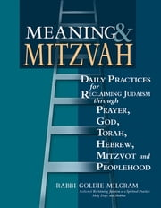 Meaning & Mitzvah - Daily Practices for Reclaiming Judaism through Prayer, God, Torah, Hebrew, Mitzvot and Peoplehood ebook by Rabbi Goldie Milgram