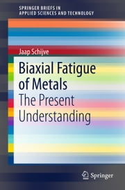 Biaxial Fatigue of Metals - The Present Understanding ebook by Jaap Schijve
