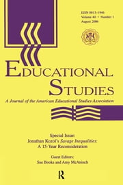 Guest Editor'S Introduction Es V40#1 - J.KOZOL'S SAVAGE INEQUALAIT. ebook by Abraham P. DeLeon