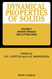 Phonon Physics The Cutting Edge ebook by Horton, G.K.