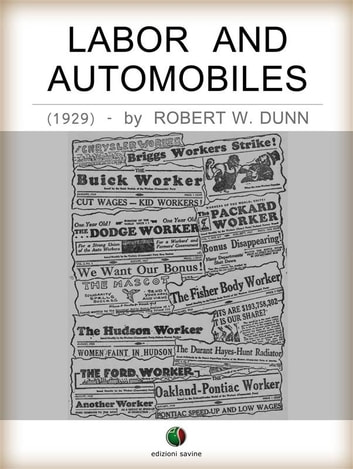 Labor and Automobiles ebook by Robert W. Dunn