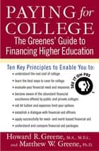 Paying for College ebook by Howard R. Greene,Matthew W. Greene
