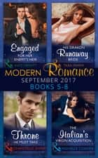 Modern Romance September 2017 Books 5 - 8 (Mills & Boon e-Book Collections) ekitaplar by Kate Hewitt, Tara Pammi, Chantelle Shaw,...