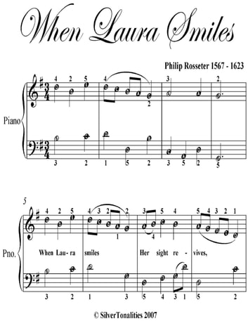 When Laura Smiles Easy Piano Sheet Music ebook by Philip Rosseter