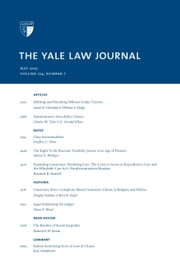 Yale Law Journal: Volume 124, Number 7 - May 2015 ebook by Yale Law Journal
