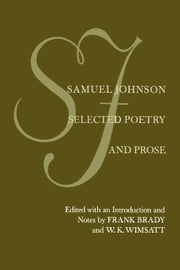 Samuel Johnson: Selected Poetry and Prose ebook by Brady, Frank