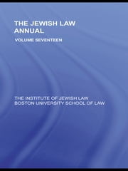 The Jewish Law Annual Volume 17 ebook by Berachyahu Lifshitz