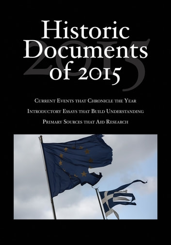 Historic Documents of 2015 ebook by
