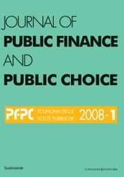 Journal of public Finance and Public Choice n.1/2008 ebook by Aa.Vv.,Domenico da Empoli