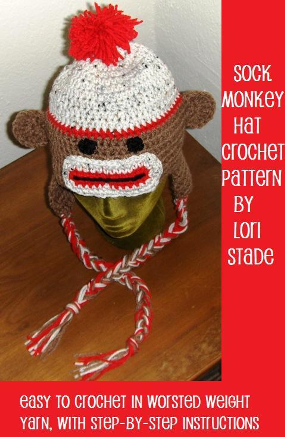 Sock Monkey Hat Crochet Pattern For Adults And Teens Ebook By Lori