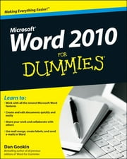 Word 2010 For Dummies ebook by Dan Gookin