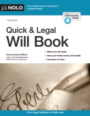 Quick & Legal Will Book ebook by Denis Clifford