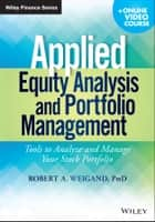 Applied Equity Analysis and Portfolio Management ebook by Robert A. Weigand